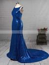 Trumpet/Mermaid Scoop Neck Sequined Sweep Train Prom Dresses #Favs020106172