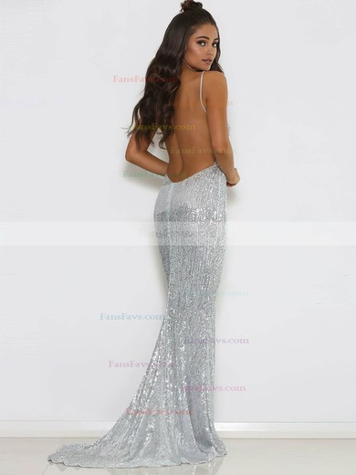 Trumpet/Mermaid V-neck Sequined Prom Dresses #Favs020106202