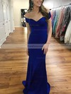 Trumpet/Mermaid Off-the-shoulder Jersey Sweep Train Prom Dresses #Favs020106218
