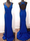 Trumpet/Mermaid V-neck Jersey with Sashes / Ribbons Prom Dresses #Favs020106226