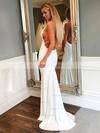 Trumpet/Mermaid V-neck Jersey Prom Dresses #Favs020106227