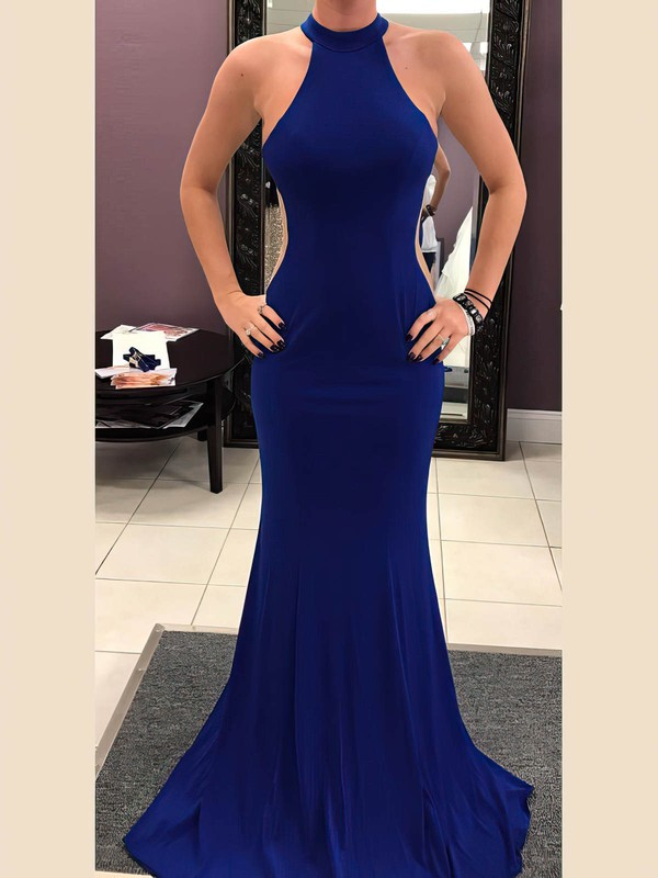 Trumpet/Mermaid Scoop Neck Jersey Prom Dresses #Favs020106240