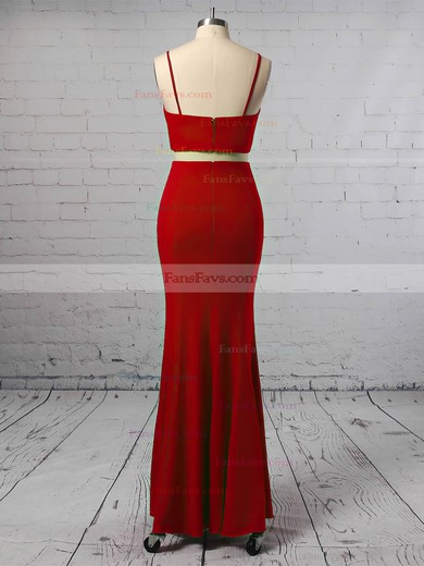 Sheath/Column V-neck Jersey Prom Dresses #Favs020106253