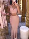 Sheath/Column V-neck Jersey Floor-length Prom Dresses #Favs020106253