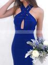 Trumpet/Mermaid V-neck Jersey Prom Dresses #Favs020106264