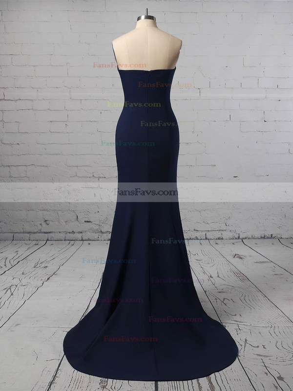 Trumpet/Mermaid Strapless Jersey Floor-length Prom Dresses #Favs020106274