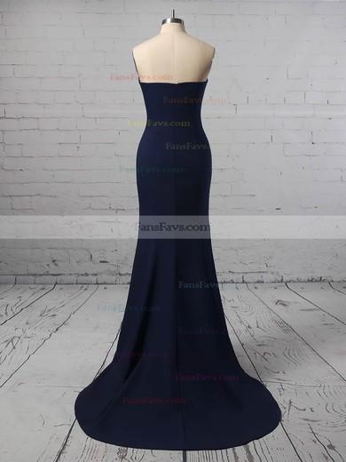 Trumpet/Mermaid Strapless Jersey Floor-length Prom Dresses #Favs020106274