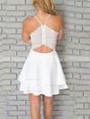 A-line V-neck Chiffon Short/Mini Lace Prom Dresses #Favs020106280