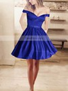 Ball Gown Off-the-shoulder Satin Short/Mini Beading Prom Dresses #Favs020106281