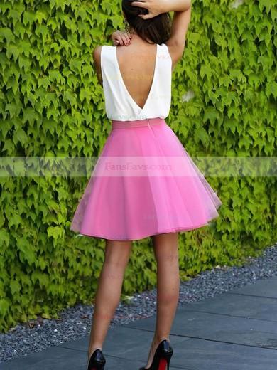 A-line V-neck Organza Short/Mini Prom Dresses #Favs020106310