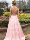 Princess Halter Satin Sweep Train Beading Prom Dresses #Favs020106383