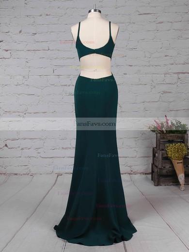 Sheath/Column V-neck Stretch Crepe Sweep Train Prom Dresses #Favs020105843