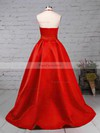 Princess Halter Satin Sweep Train Beading Prom Dresses #Favs020105851