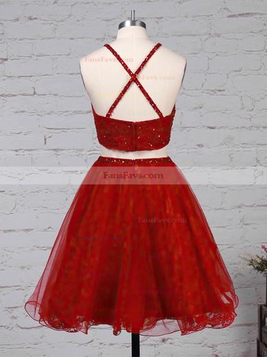 Princess Square Neckline Lace Tulle Short/Mini Beading Prom Dresses #Favs020105897