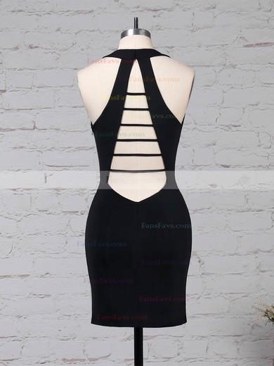 Sheath/Column V-neck Jersey Short/Mini Draped Prom Dresses #Favs020105907