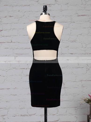 Sheath/Column Scoop Neck Silk-like Satin Short/Mini Split Front Prom Dresses #Favs020105908