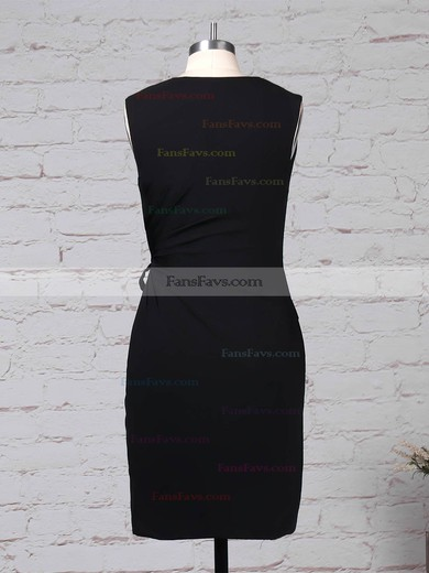 Sheath/Column V-neck Silk-like Satin Short/Mini Pockets Prom Dresses #Favs020105901