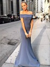 Trumpet/Mermaid Off-the-shoulder Stretch Crepe Floor-length Prom Dresses #Favs020106436