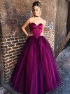 Ball Gown Sweetheart Satin Tulle Floor-length Prom Dresses #Favs020106443