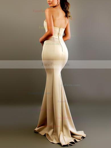 Trumpet/Mermaid Sweetheart Satin Floor-length Sashes / Ribbons Prom Dresses #Favs020106452