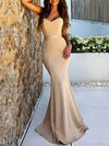 Trumpet/Mermaid Sweetheart Satin Floor-length Sashes / Ribbons Prom Dresses #Favs020106452