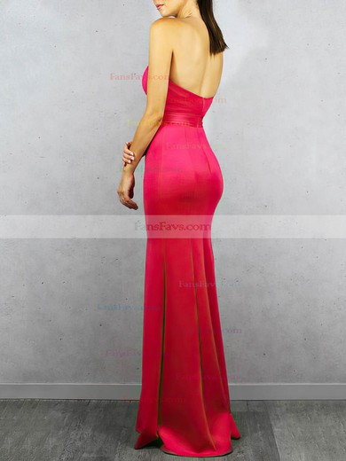 Trumpet/Mermaid Strapless Satin Floor-length Split Front Prom Dresses #Favs020106456