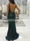 Trumpet/Mermaid V-neck Sequined Floor-length Prom Dresses #Favs020106512