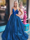 Ball Gown V-neck Glitter Floor-length Prom Dresses #Favs020106530