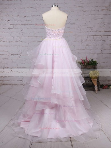Ball Gown Sweetheart Floor-length Organza Prom Dresses with Beading #Favs020103055