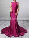 Trumpet/Mermaid Scoop Neck Jersey Court Train Prom Dresses #Favs020102318