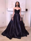 Ball Gown Sweetheart Satin Sweep Train Beading Prom Dresses #Favs020103540