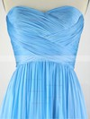A-line Sweetheart Chiffon Sweep Train Pleats Prom Dresses #Favs020104304
