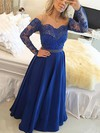 A-line Scoop Neck Chiffon Floor-length Beading Prom Dresses #Favs020104440
