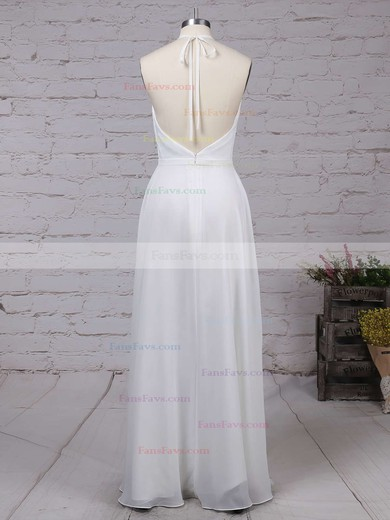 A-line V-neck Ankle-length Chiffon Prom Dresses with Split Front #Favs020104497