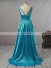 Princess V-neck Satin Floor-length Beading Prom Dresses #Favs02018723
