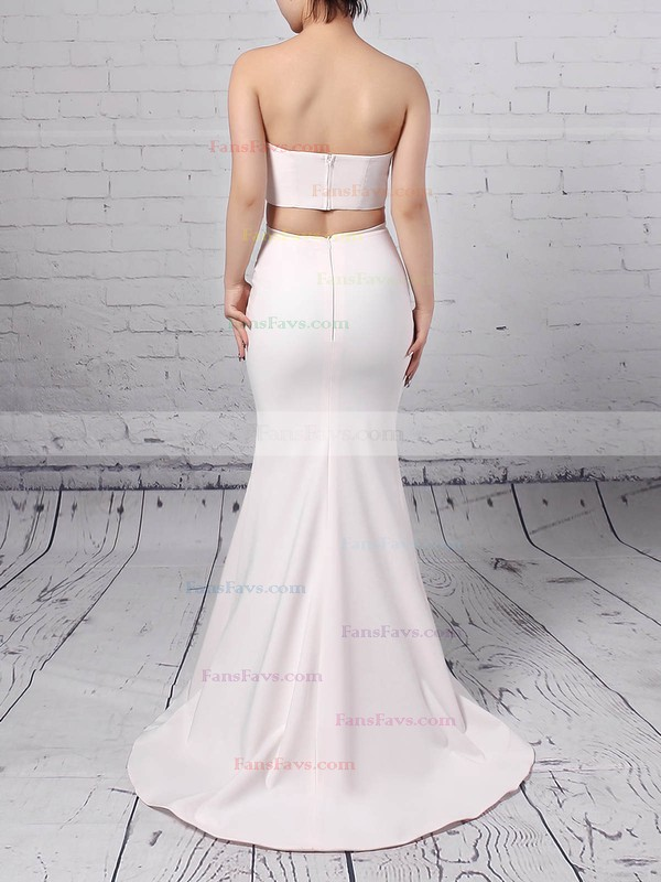 Trumpet/Mermaid Sweetheart Stretch Crepe Floor-length Split Front Prom Dresses #Favs020104804