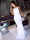 Trumpet/Mermaid Halter Floor-length Jersey Prom Dresses with Sequins #Favs020104808