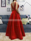Princess V-neck Satin Floor-length Prom Dresses #Favs020104832