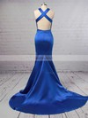 Trumpet/Mermaid Scoop Neck Stretch Crepe Sweep Train Prom Dresses #Favs020104835