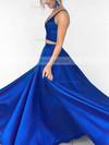 Princess V-neck Floor-length Satin Prom Dresses #Favs020104903