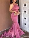 Trumpet/Mermaid Scoop Neck Jersey Sweep Train Prom Dresses #Favs020104907