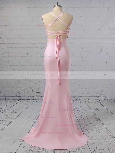 Trumpet/Mermaid Sweetheart Sweep Train Silk-like Satin Prom Dresses #Favs020104922