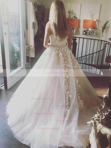 Princess Strapless Tulle Floor-length Beading Prom Dresses #Favs020104927