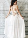 A-line V-neck Chiffon Floor-length Ruffles Prom Dresses #Favs020105273