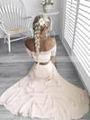 Sheath/Column Off-the-shoulder Lace Chiffon Floor-length Split Front Prom Dresses #Favs020105362