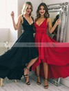 A-line V-neck Silk-like Satin Asymmetrical Sashes / Ribbons Prom Dresses #Favs020105405
