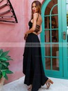A-line Scoop Neck Jersey Asymmetrical Prom Dresses #Favs020105406