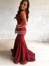 Trumpet/Mermaid V-neck Jersey Sweep Train Prom Dresses #Favs020105484
