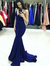 Trumpet/Mermaid V-neck Sweep Train Silk-like Satin Prom Dresses #Favs020105485