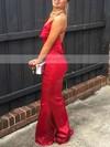 Sheath/Column Cowl Neck Silk-like Satin Sweep Train Prom Dresses #Favs020105542